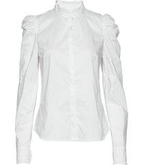 hania blus långärmad vit custommade