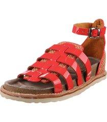 sandalia roja maggio rossetto trini