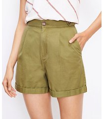 loft petite pull on shorts in twill