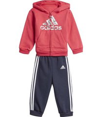trainingspak adidas fleece hooded joggingpak
