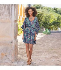 sundance catalog women's azul floral dress in midntflrl petite 2xs