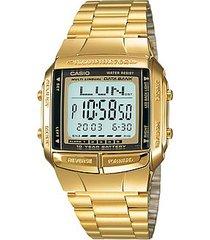 reloj casio unixes dorado db 360. telememo 30. 100% original