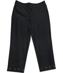 jm collection petite loop grommet-hem tummy-control capri pants, created for macy's