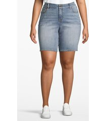 lane bryant women's venezia bermuda denim short - light wash 18 light wash