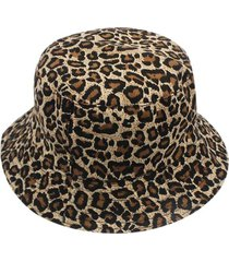 travel reversible leopard printed bucket hat