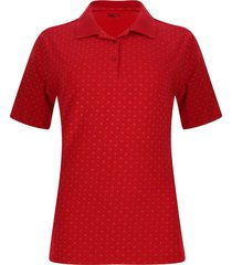 polo estampada circulos color rojo, talla m