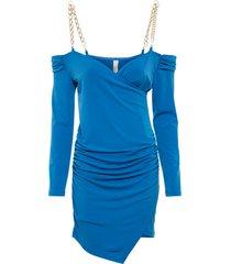 abito elasticizzato (blu) - bodyflirt boutique