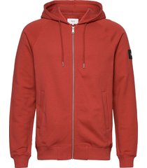 branch hooded sweatshirt hoodie röd makia