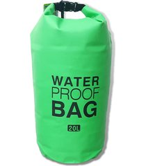 bolso verde outdoor adventure impermeable 20litros