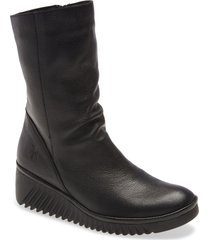 women's fly london lede bootie, size 9-9.5us - black