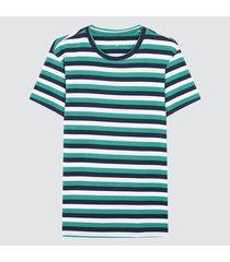 camiseta para hombre franjas verdes