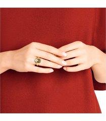 anillo de sello magnetic, multicolor, combinación de acabados metálicos