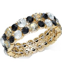 inc gold-tone multi-stone stretch bracelet, created for macy's
