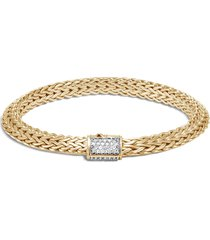 'classic chain tiga' diamond 18k yellow gold small bracelet