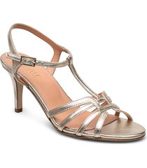 dance sandal t-string sandal med klack silver apair