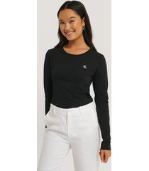 calvin klein broderad t-shirt - black