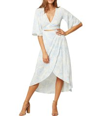 women's l space kellen faux wrap cover-up dress