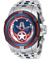 reloj invicta modelo 27045 acero, azul oscuro hombre