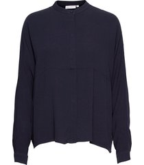 shirt w. cutline at body långärmad skjorta blå coster copenhagen