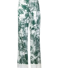 f.r.s for restless sleepers etere pajama trousers - green
