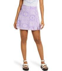 women's bp. print crepe skirt, size medium - purple
