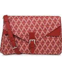 lancaster paris designer handbags, ikon coated canvas flap crossbody bag