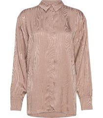 kaarna collar shirt blouse lange mouwen beige hálo