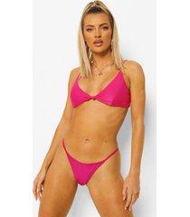 essentials tanga bikini broekje, bright pink