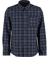 a.p.c. classic italian collar cotton shirt