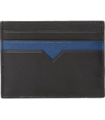 men's mz wallace finn rfid leather card case - black