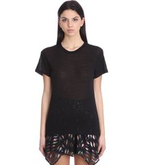 iro joly t-shirt in black cotton