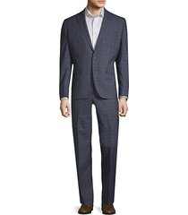 double windowpane wool suit