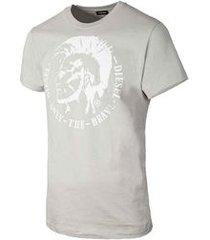 camiseta diesel t-head cinza