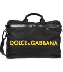 dolce & gabbana logo duffle bag