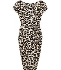 leopard strik jurk