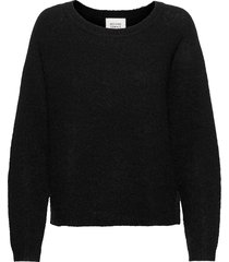 brook knit o-neck stickad tröja svart second female