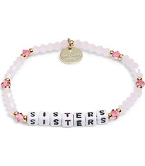 women's little words project sisters beaded stretch bracelet
