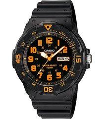 reloj análogo negro casio