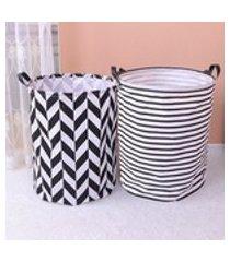 saco suspenso padrão saco de armazenamento dobrável cesto de lixo caixa de brinquedo roupas redondas de linho de algodão caixa de cesto de corda nova