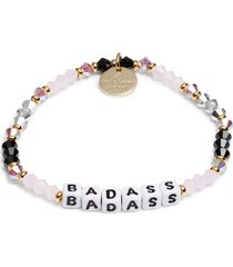 women's little words project breast cancer support beaded stretch bracelet