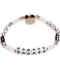 women's little words project badass beaded stretch bracelet