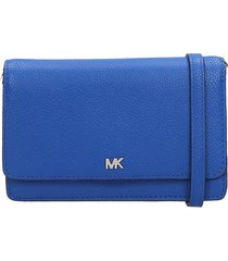 michael kors clutch in blue leather