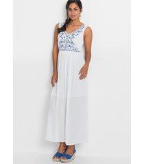 maxi jurk met borduursel
