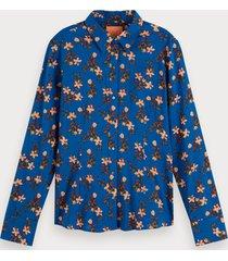 scotch & soda blouse met bloemenprint