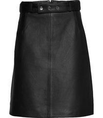 luza leather skirt knälång kjol svart andiata