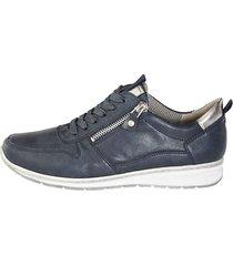 skor jenny marinblå