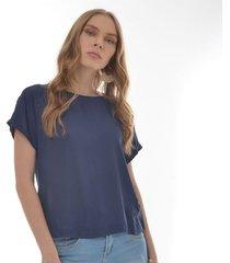 blusa para mujer en chalis azul color-azul-talla-xl