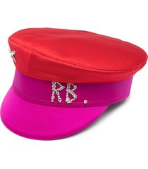 ruslan baginskiy crystal logo baker boy hat - red