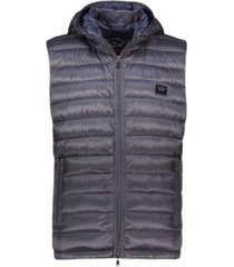 100 gram bodywarmer met afneembare hoodie, met rits, logo op de borst en horizontale stiknaden
