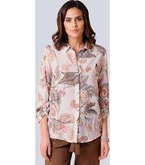 blouse alba moda roze::bruin